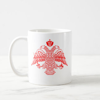 Cruz bizantina y Eagle Taza De Café