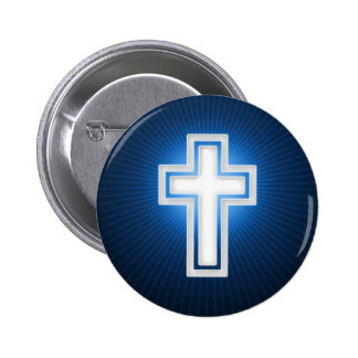 Cruz - botón cristiano
