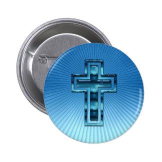 Cruz - botón cristiano pins