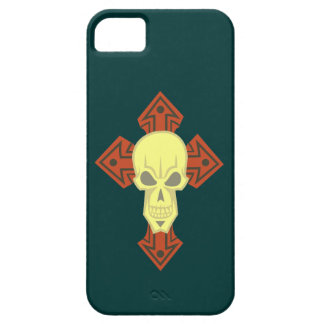 Cruz calavera cráneo cross skull iPhone 5 Case-Mate carcasa