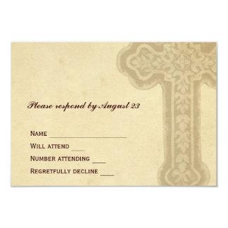 Cruz céltica antigua RSVP de Brown Invitación 8,9 X 12,7 Cm