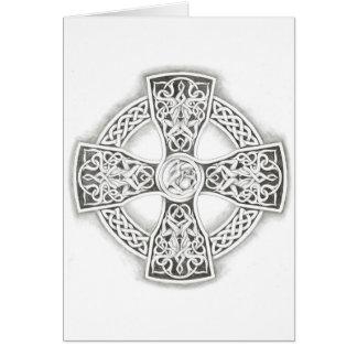 Cruz céltica irlandesa tarjeta