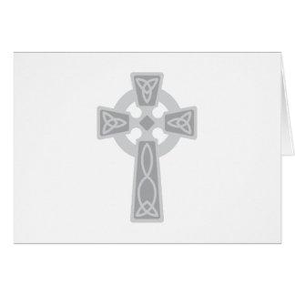 Cruz céltica tarjeta