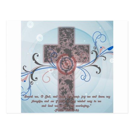 Cruz con escritura postal
