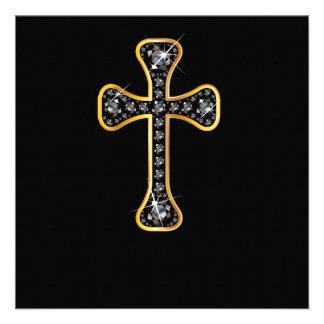 """Cruz cristiana con las piedras del """"ónix"""" anuncio"""