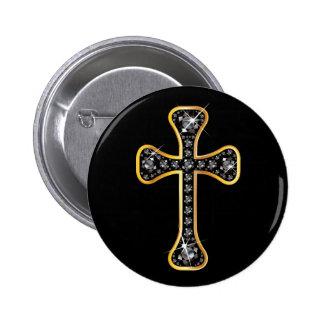 """Cruz cristiana con las piedras del """"ónix"""" pins"""