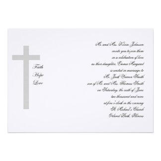 Cruz cristiana del gris del amor de la esperanza d comunicado personal
