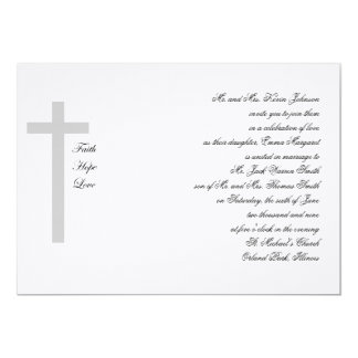 Cruz cristiana del gris del amor de la esperanza comunicado personal