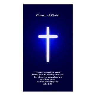Cruz cristiana el | azul marino tarjetas de visita