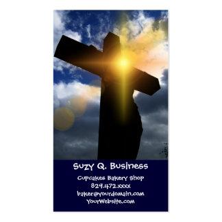 Cruz cristiana en el servicio de la salida del sol tarjetas de visita