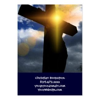 Cruz cristiana en el servicio de la salida del sol tarjetas de visita grandes