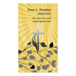 Cruz cristiana espiritual de la salida del sol tarjetas de visita