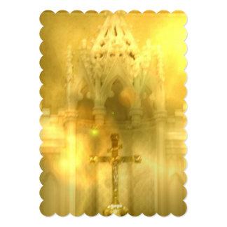 Cruz cristiana invitación 12,7 x 17,8 cm