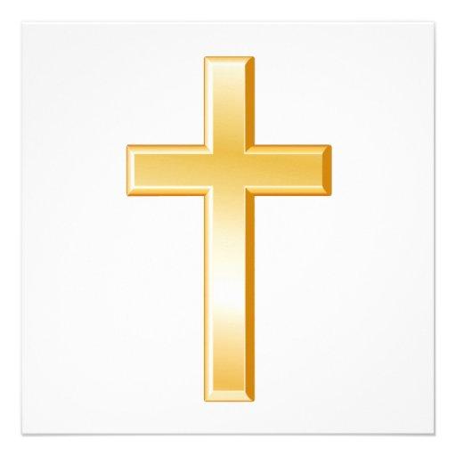 Cruz cristiana comunicado personalizado