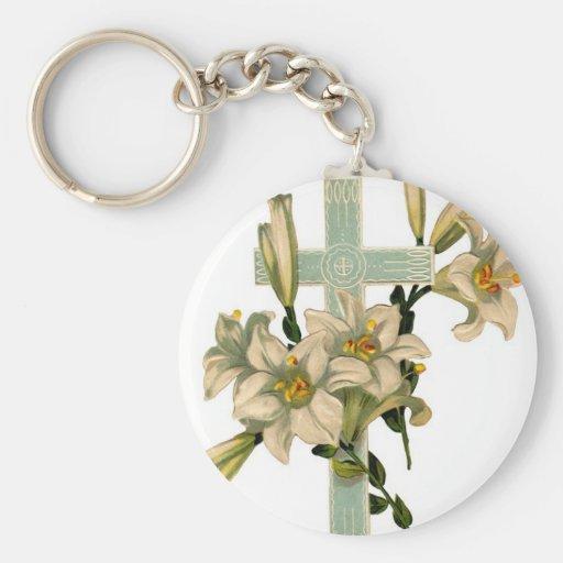 Cruz cristiana llaveros