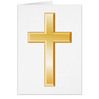 Cruz cristiana tarjeta pequeña