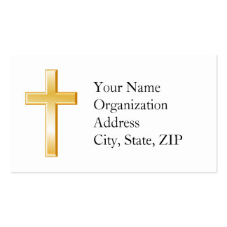 Cruz cristiana tarjeta de visita