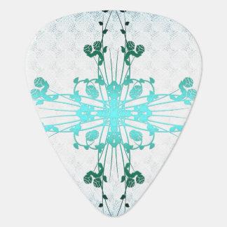 Cruz de la flor púa de guitarra