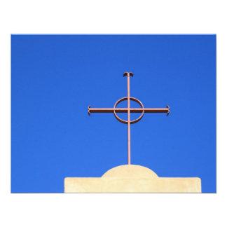 Cruz de la iglesia comunicado personalizado