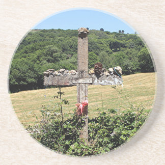 Cruz de madera, EL Camino, España Posavasos De Arenisca