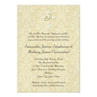 Cruz de oro de los anillos, invitaciones invitación 12,7 x 17,8 cm