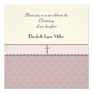 Cruz de plata 2 - invitación religiosa de la foto