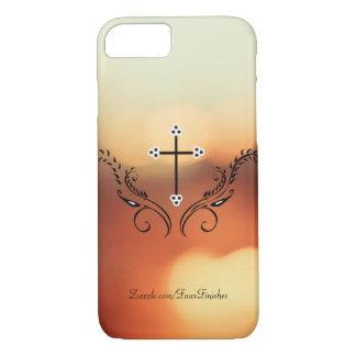 Cruz decorativa de Bokeh Funda iPhone 7