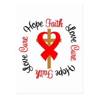 Cruz del amor de la esperanza de la fe del postal