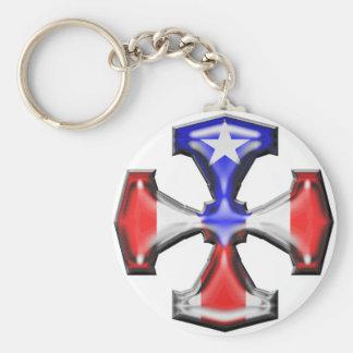 Cruz del hierro de la bandera de la banda llavero personalizado