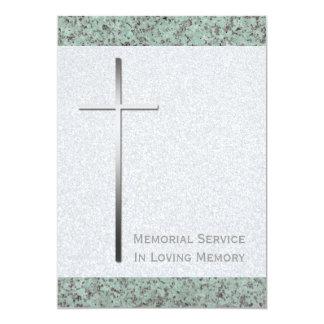 Cruz del metal/ceremonia conmemorativa de la invitación 12,7 x 17,8 cm