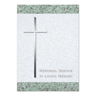 Cruz del metal/invitación del entierro de la