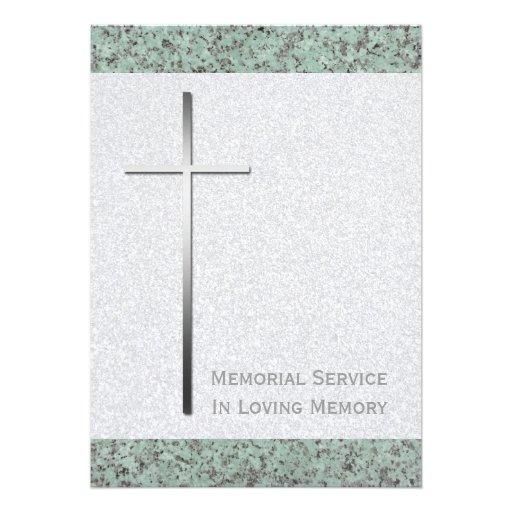 Cruz del metal/invitación fúnebre de piedra