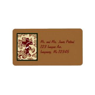 Cruz del navidad etiquetas de dirección