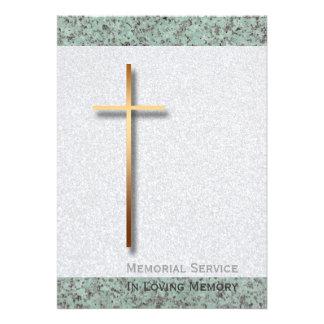 Cruz del oro/invitación fúnebre de piedra