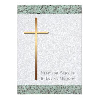 Cruz del oro invitación fúnebre de piedra