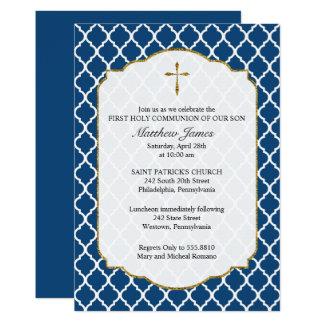 Cruz del oro, invitación religiosa de Quatrefoil,