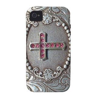 Cruz del vintage Case-Mate iPhone 4 carcasa