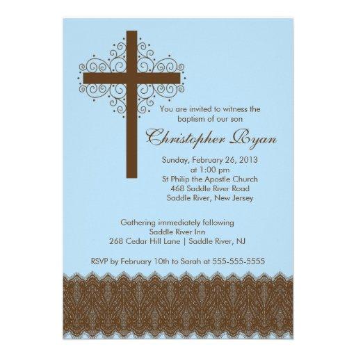 Cruz elegante del bautizo del bautismo el   del co anuncios