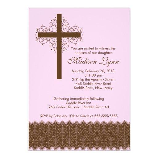 Cruz elegante del bautizo del bautismo el   del co comunicados personales
