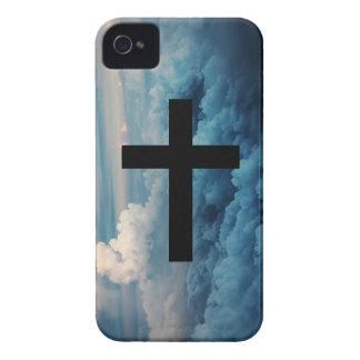 Cruz en el Cielo iPhone 4 Protectores