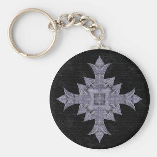 Cruz gótica medieval de la fantasía llaveros personalizados