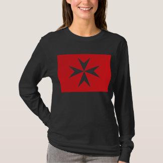 Cruz maltesa, bandera Romani Camiseta