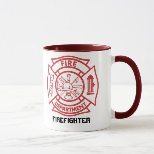 Cruz maltesa/bombero - taza