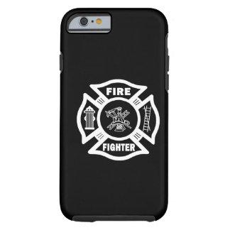 Cruz maltesa del bombero funda de iPhone 6 tough