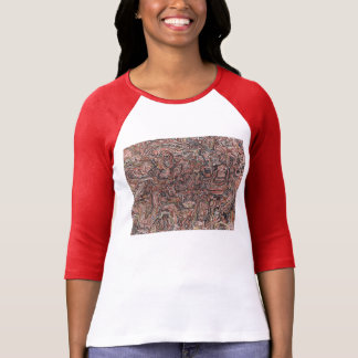 cruz marrón camiseta