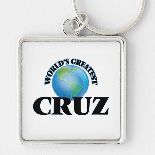 Cruz más grande del mundo llavero personalizado