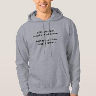 Cruz nunca masculina de la sudadera con capucha