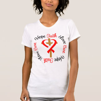 Cruz oral del amor de la esperanza de la fe del cá camisetas