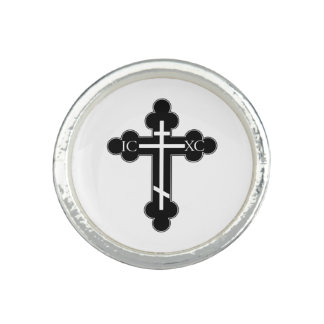 Cruz ortodoxa anillo