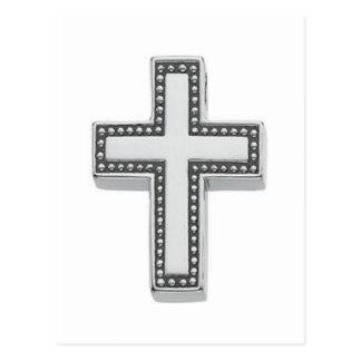 Cruz/Pascua cristianas de plata Postal